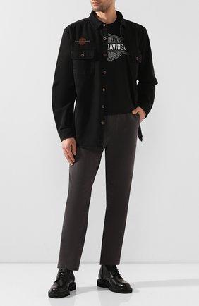 Мужская хлопковая рубашка 1903 HARLEY-DAVIDSON черного цвета, арт. 96282-20VM | Фото 2