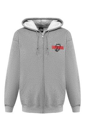 Мужской толстовка exclusive for moscow HARLEY-DAVIDSON серого цвета, арт. 30298862 | Фото 1 (Мужское Кросс-КТ: Толстовка-одежда; Стили: Спорт-шик; Материал внешний: Хлопок)