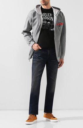 Мужской толстовка exclusive for moscow HARLEY-DAVIDSON серого цвета, арт. 30298862 | Фото 2 (Мужское Кросс-КТ: Толстовка-одежда; Стили: Спорт-шик; Материал внешний: Хлопок)