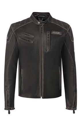 Мужская кожаная куртка genuine motorclothes HARLEY-DAVIDSON черного цвета, арт. 98032-18EM | Фото 1