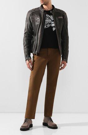 Мужская кожаная куртка genuine motorclothes HARLEY-DAVIDSON черного цвета, арт. 98032-18EM | Фото 2
