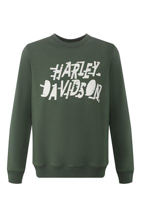 Мужской свитшот garage HARLEY-DAVIDSON зеленого цвета, арт. 96686-19VM | Фото 1