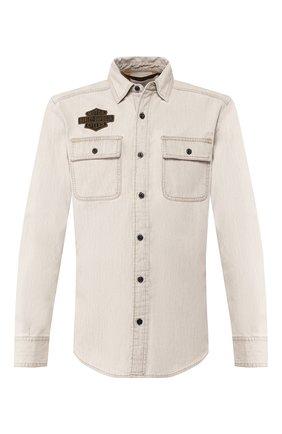 Мужская хлопковая рубашка 1903 HARLEY-DAVIDSON светло-бежевого цвета, арт. 96647-19VM | Фото 1