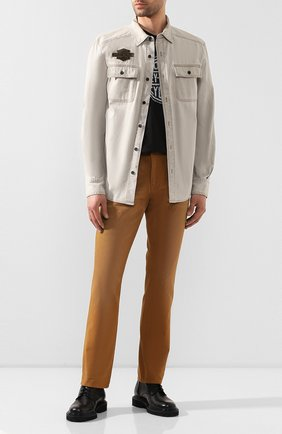 Мужская хлопковая рубашка 1903 HARLEY-DAVIDSON светло-бежевого цвета, арт. 96647-19VM | Фото 2
