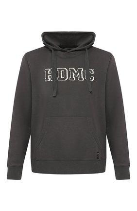 Мужской хлопковое худи garage HARLEY-DAVIDSON темно-серого цвета, арт. 96161-18VM | Фото 1
