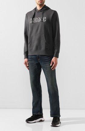 Мужской хлопковое худи garage HARLEY-DAVIDSON темно-серого цвета, арт. 96161-18VM | Фото 2