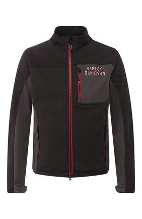 Мужская куртка genuine motorclothes HARLEY-DAVIDSON темно-серого цвета, арт. 97423-17VM | Фото 1
