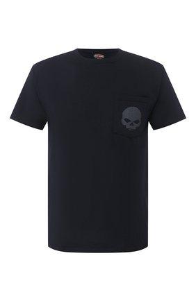 Мужская хлопковая футболка exclusive for moscow HARLEY-DAVIDSON черного цвета, арт. R003469   Фото 1