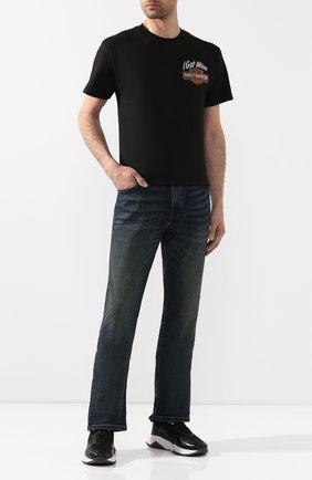 Мужская хлопковая футболка exclusive for moscow HARLEY-DAVIDSON черного цвета, арт. R002678 | Фото 2