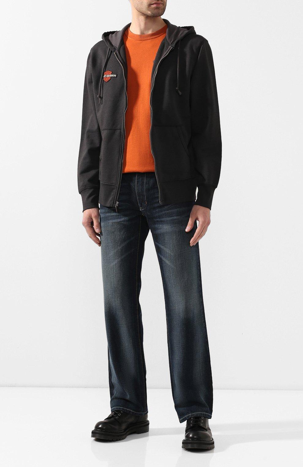 Мужской хлопковая толстовка genuine motorclothes HARLEY-DAVIDSON черного цвета, арт. 99099-20VM   Фото 2 (Рукава: Длинные; Мужское Кросс-КТ: Толстовка-одежда; Длина (для топов): Стандартные; Материал внешний: Хлопок; Стили: Спорт-шик)
