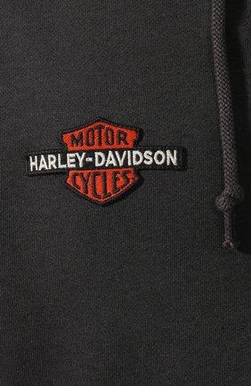 Мужской хлопковая толстовка genuine motorclothes HARLEY-DAVIDSON черного цвета, арт. 99099-20VM   Фото 5 (Рукава: Длинные; Мужское Кросс-КТ: Толстовка-одежда; Длина (для топов): Стандартные; Материал внешний: Хлопок; Стили: Спорт-шик)