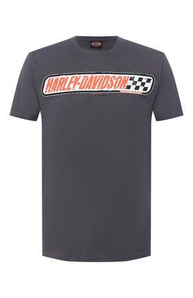 Мужская хлопковая футболка exclusive for moscow HARLEY-DAVIDSON серого цвета, арт. R003464 | Фото 1