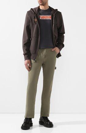 Мужская хлопковая футболка exclusive for moscow HARLEY-DAVIDSON серого цвета, арт. R003464 | Фото 2