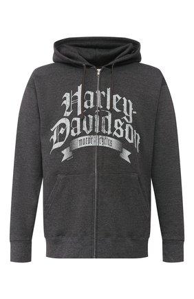 Мужская толстовка exclusive for moscow HARLEY-DAVIDSON темно-серого цвета, арт. R003629 | Фото 1