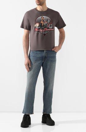 Мужская хлопковая футболка exclusive for moscow HARLEY-DAVIDSON серого цвета, арт. R003089 | Фото 2