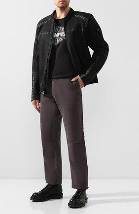 Мужской хлопковые брюки genuine motorclothes HARLEY-DAVIDSON темно-серого цвета, арт. 99055-18VM | Фото 2