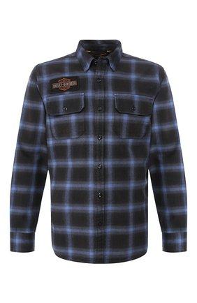Мужская хлопковая рубашка 1903 HARLEY-DAVIDSON синего цвета, арт. 99258-19VM | Фото 1