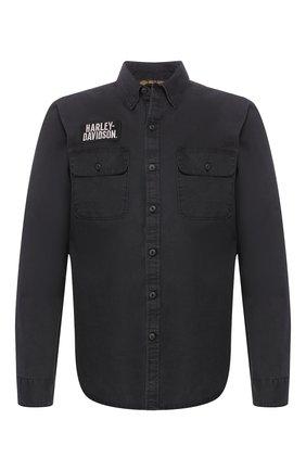 Мужская хлопковая рубашка 1903 HARLEY-DAVIDSON черного цвета, арт. 96110-20VM | Фото 1