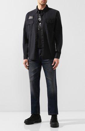 Мужская хлопковая рубашка 1903 HARLEY-DAVIDSON черного цвета, арт. 96110-20VM | Фото 2