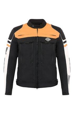 Мужская куртка genuine motorclothes HARLEY-DAVIDSON черного цвета, арт. 98393-19EM | Фото 1