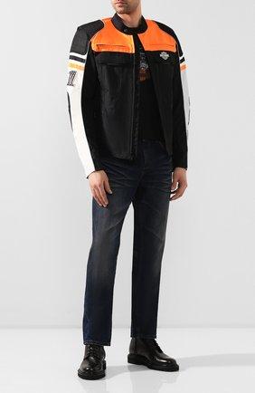 Мужская куртка genuine motorclothes HARLEY-DAVIDSON черного цвета, арт. 98393-19EM | Фото 2