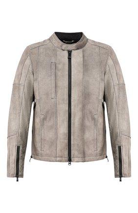 Мужская кожаная куртка h-d moto HARLEY-DAVIDSON серого цвета, арт. 98061-19EM | Фото 1