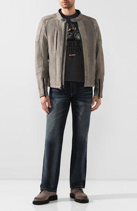 Мужская кожаная куртка h-d moto HARLEY-DAVIDSON серого цвета, арт. 98061-19EM | Фото 2