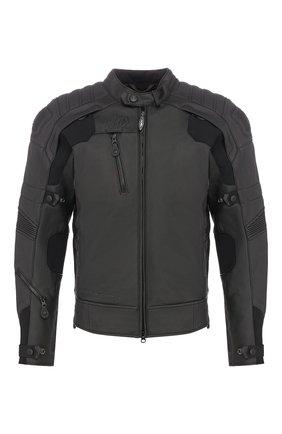 Мужская кожаная куртка fxrg HARLEY-DAVIDSON черного цвета, арт. 98051-19EM | Фото 1