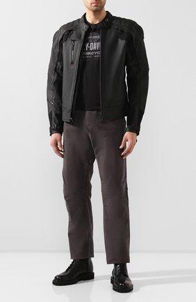 Мужская кожаная куртка fxrg HARLEY-DAVIDSON черного цвета, арт. 98051-19EM | Фото 2