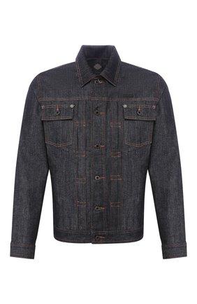 Мужская джинсовая куртка black label HARLEY-DAVIDSON темно-синего цвета, арт. 96044-15VM   Фото 1