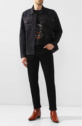 Мужская джинсовая куртка black label HARLEY-DAVIDSON темно-синего цвета, арт. 96044-15VM   Фото 2