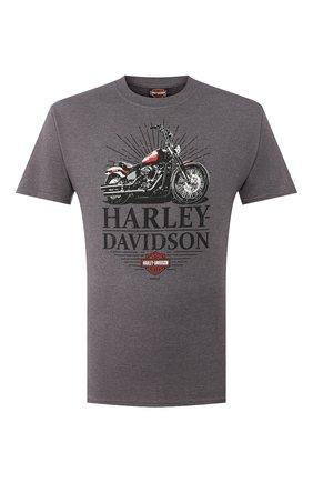 Мужская хлопковая футболка exclusive for moscow HARLEY-DAVIDSON темно-серого цвета, арт. R003451   Фото 1