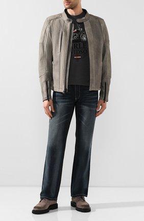 Мужская хлопковая футболка exclusive for moscow HARLEY-DAVIDSON темно-серого цвета, арт. R003451   Фото 2