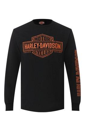 Мужская хлопковый лонгслив exclusive for moscow HARLEY-DAVIDSON черного цвета, арт. R003470 | Фото 1