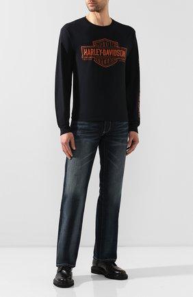 Мужская хлопковый лонгслив exclusive for moscow HARLEY-DAVIDSON черного цвета, арт. R003470 | Фото 2