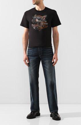 Мужская хлопковая футболка exclusive for moscow HARLEY-DAVIDSON черного цвета, арт. R003631   Фото 2