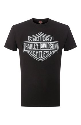 Мужская хлопковая футболка exclusive for moscow HARLEY-DAVIDSON черного цвета, арт. R003461   Фото 1