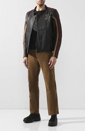 Мужская хлопковая футболка exclusive for moscow HARLEY-DAVIDSON черного цвета, арт. R003461   Фото 2