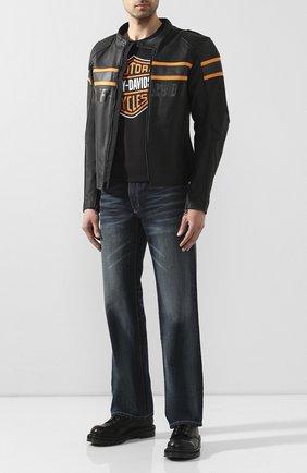 Мужская кожаная куртка genuine motorclothes HARLEY-DAVIDSON черного цвета, арт. 98007-20EM | Фото 2