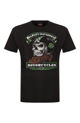 Мужская хлопковая футболка exclusive for moscow HARLEY-DAVIDSON черного цвета, арт. R003446 | Фото 1