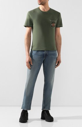 Мужская хлопковая футболка exclusive for moscow HARLEY-DAVIDSON зеленого цвета, арт. R003480 | Фото 2