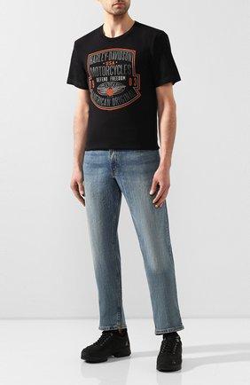 Мужская хлопковая футболка exclusive for moscow HARLEY-DAVIDSON черного цвета, арт. R003456 | Фото 2