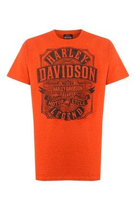 Мужская хлопковая футболка exclusive for moscow HARLEY-DAVIDSON оранжевого цвета, арт. R003424 | Фото 1