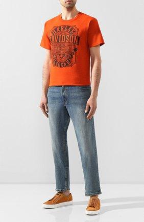Мужская хлопковая футболка exclusive for moscow HARLEY-DAVIDSON оранжевого цвета, арт. R003424 | Фото 2