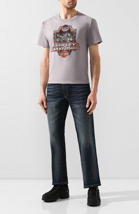 Мужская хлопковая футболка exclusive for moscow HARLEY-DAVIDSON серого цвета, арт. R003448 | Фото 2