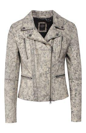 Женская кожаная куртка black label HARLEY-DAVIDSON белого цвета, арт. 97102-15VW | Фото 1