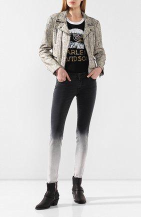 Женская кожаная куртка black label HARLEY-DAVIDSON белого цвета, арт. 97102-15VW | Фото 2