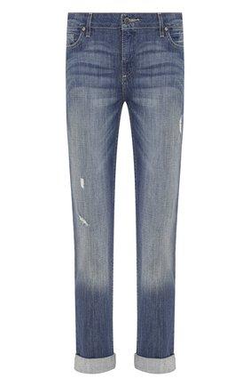Женские джинсы с отворотами black label HARLEY-DAVIDSON голубого цвета, арт. 96188-15VW | Фото 1