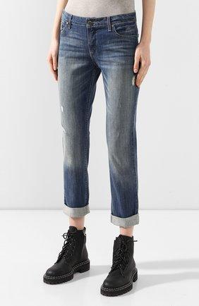 Женские джинсы с отворотами black label HARLEY-DAVIDSON голубого цвета, арт. 96188-15VW | Фото 3