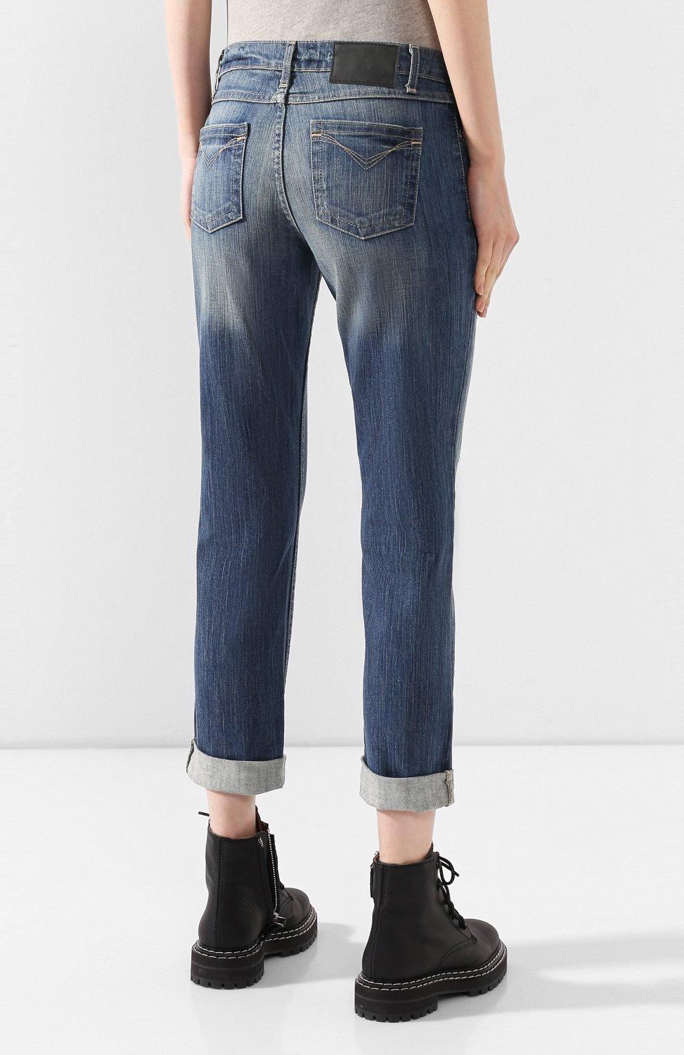Женские джинсы с отворотами black label HARLEY-DAVIDSON голубого цвета, арт. 96188-15VW | Фото 4